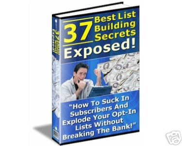 37 Best List Building Secrets Exposed - Resell Rights